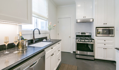 residential remodel white kitchen SF CA