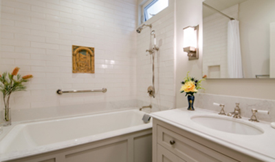 residential remodel white bath SF CA